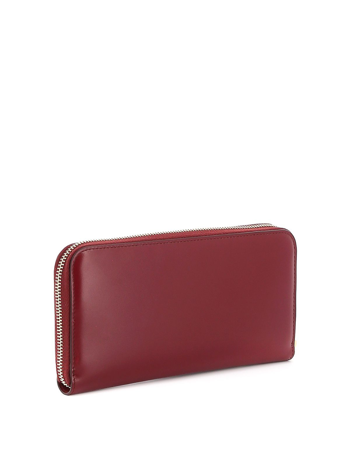 TOD'S WOMEN'S XAWAMEA0400M736Q61 RED LEATHER WALLET
