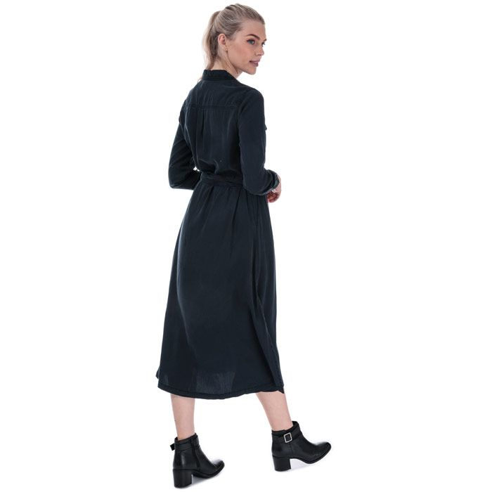 Women's French Connection Tandy Tie Waist Shirt Dress in Indigo