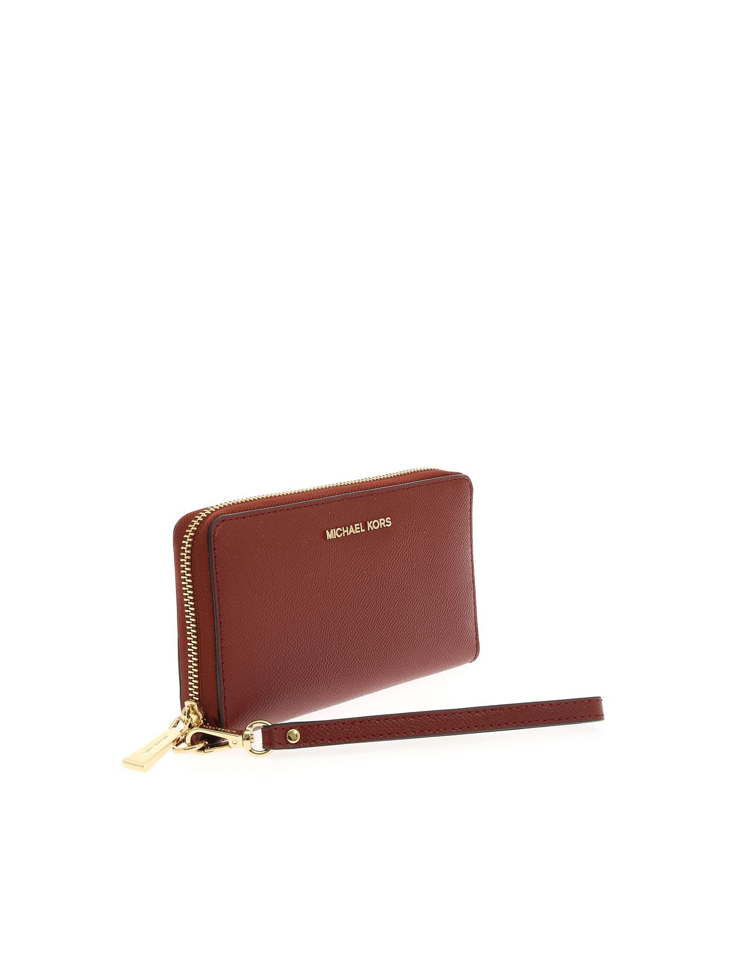 MICHAEL KORS WOMEN'S 34F9GTVE9L626 BURGUNDY LEATHER WALLET
