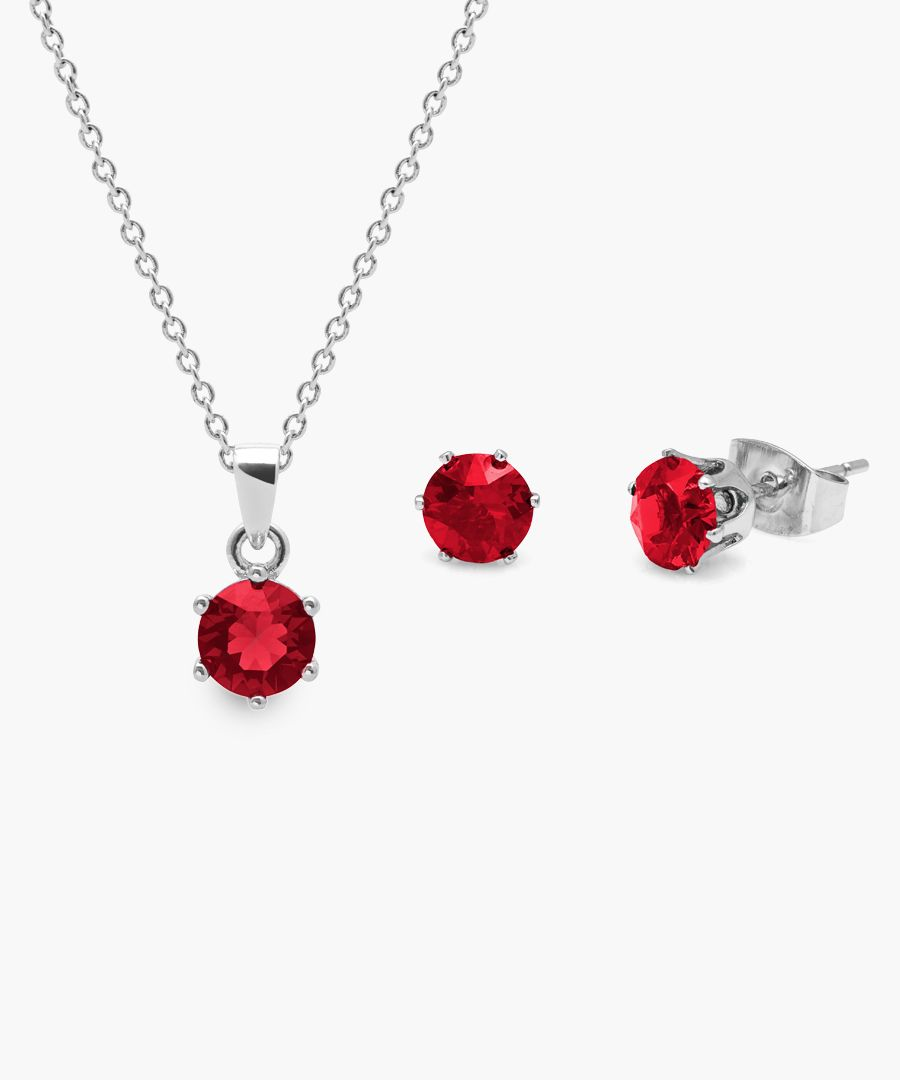 2pc January birthstone earring and necklace set