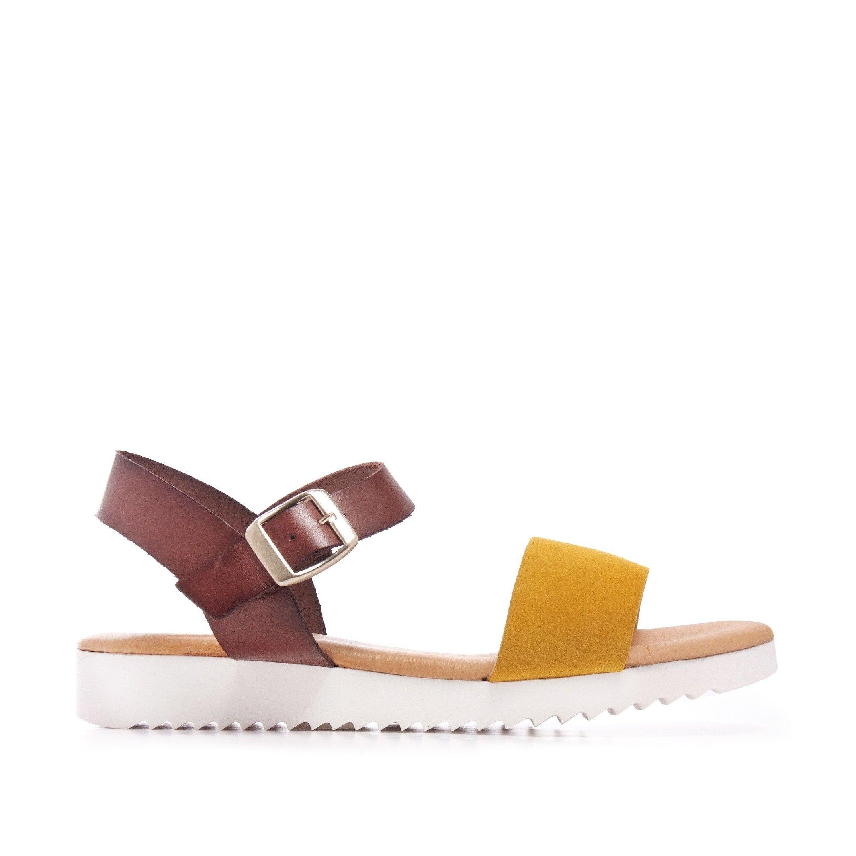 Leather Yellow Sandals Flip Flop Women Maria Barcelo