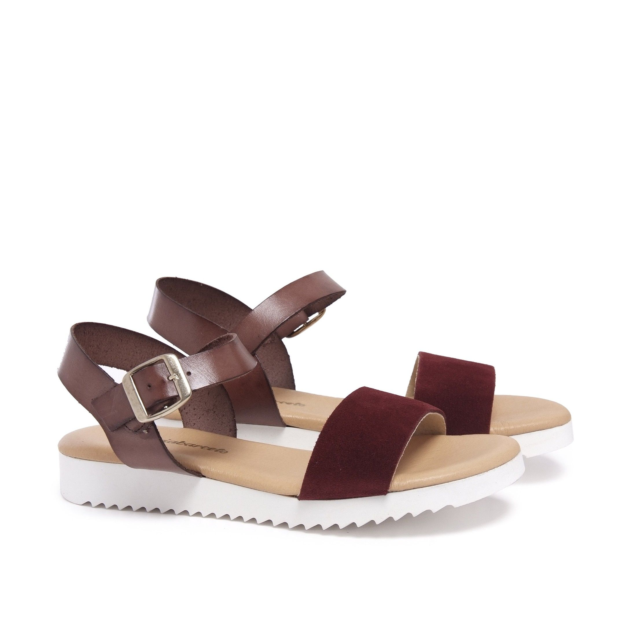 Leather Bordeaux Sandals Flip Flop Women Maria Barcelo