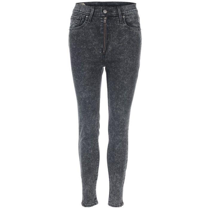 Women's Levis Moto Jeans in Black Marl