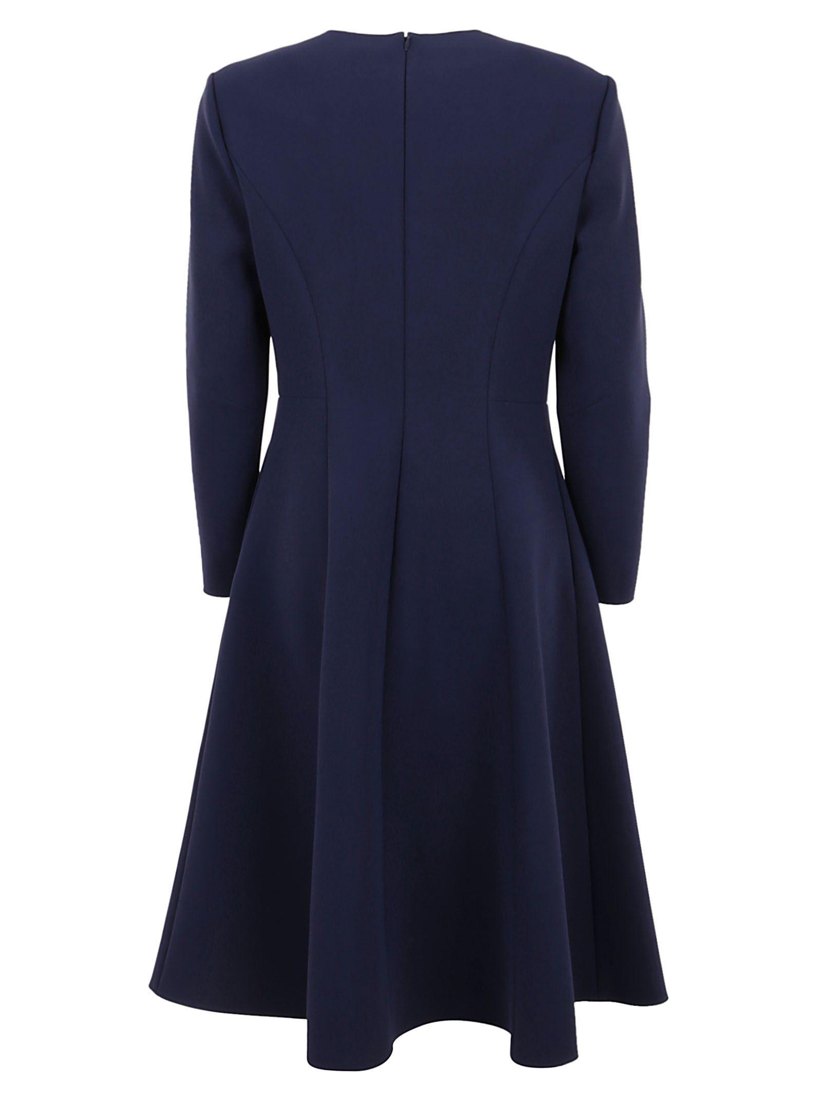 RALPH LAUREN WOMEN'S 290788753001 BLUE ACETATE DRESS