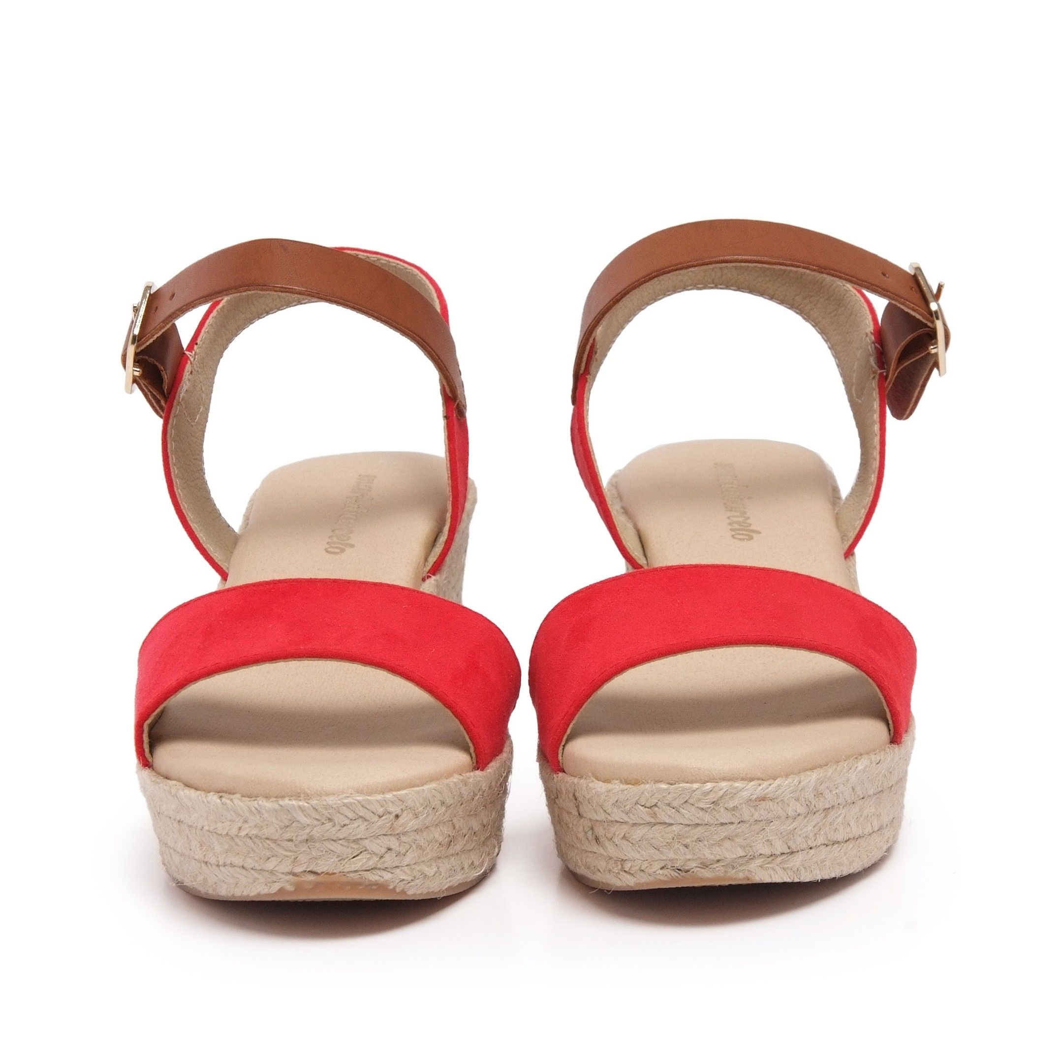 Ankle Strap Red Sandals Summer Women María Barceló