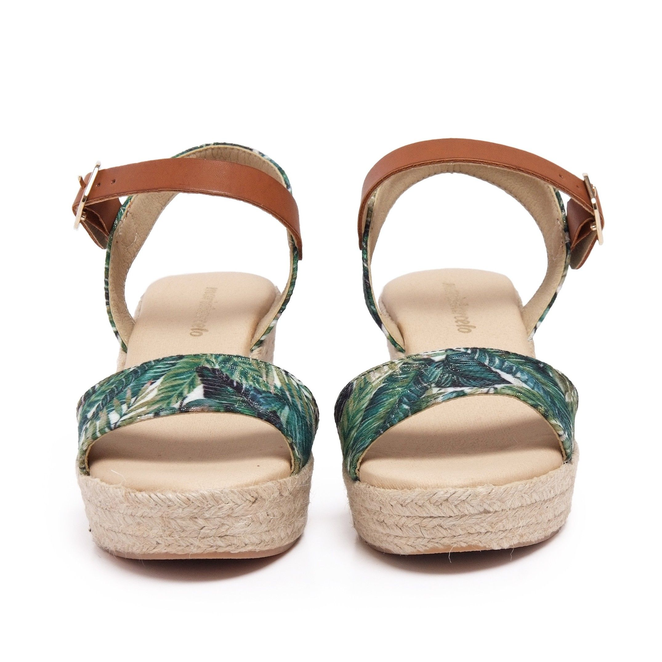 Ankle Strap Green Sandals Summer Women María Barceló