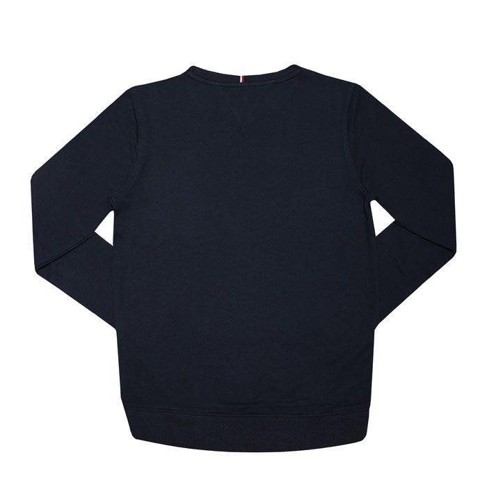 Boys' Tommy Hilfiger Junior Essential Logo Sweatshirt In Navy