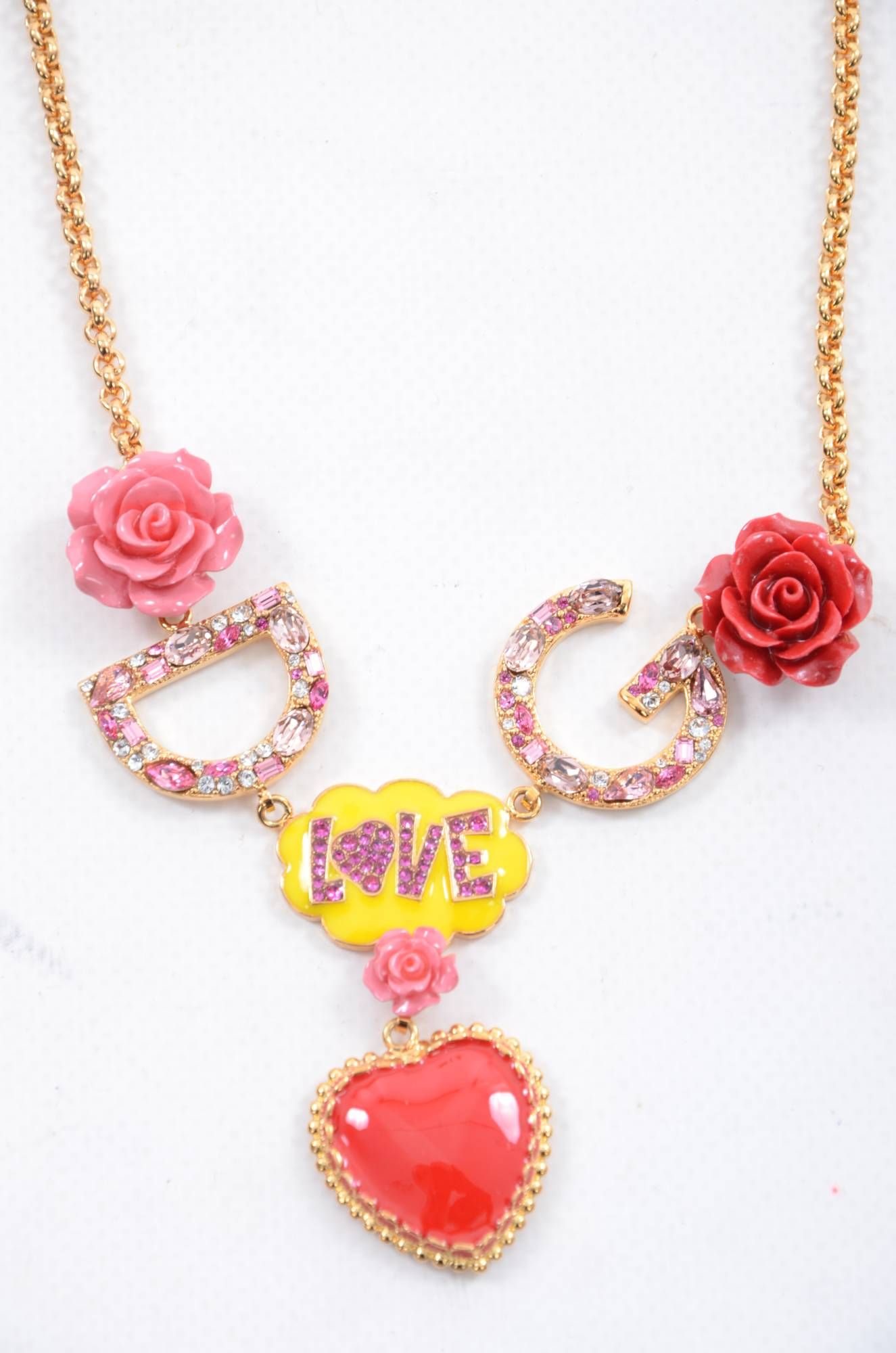 Dolce & Gabbana Women DG Rose Necklace