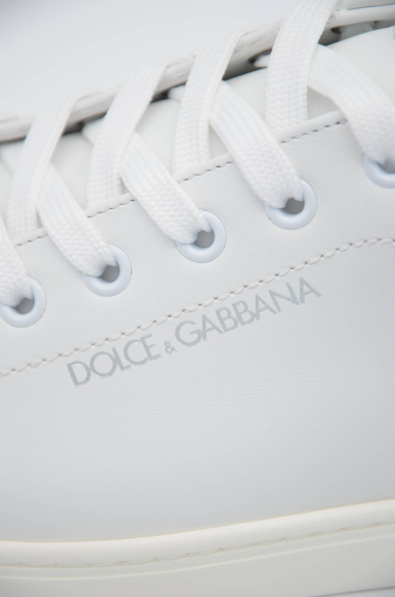 Dolce & Gabbana Men Leather Low-Top Sneakers