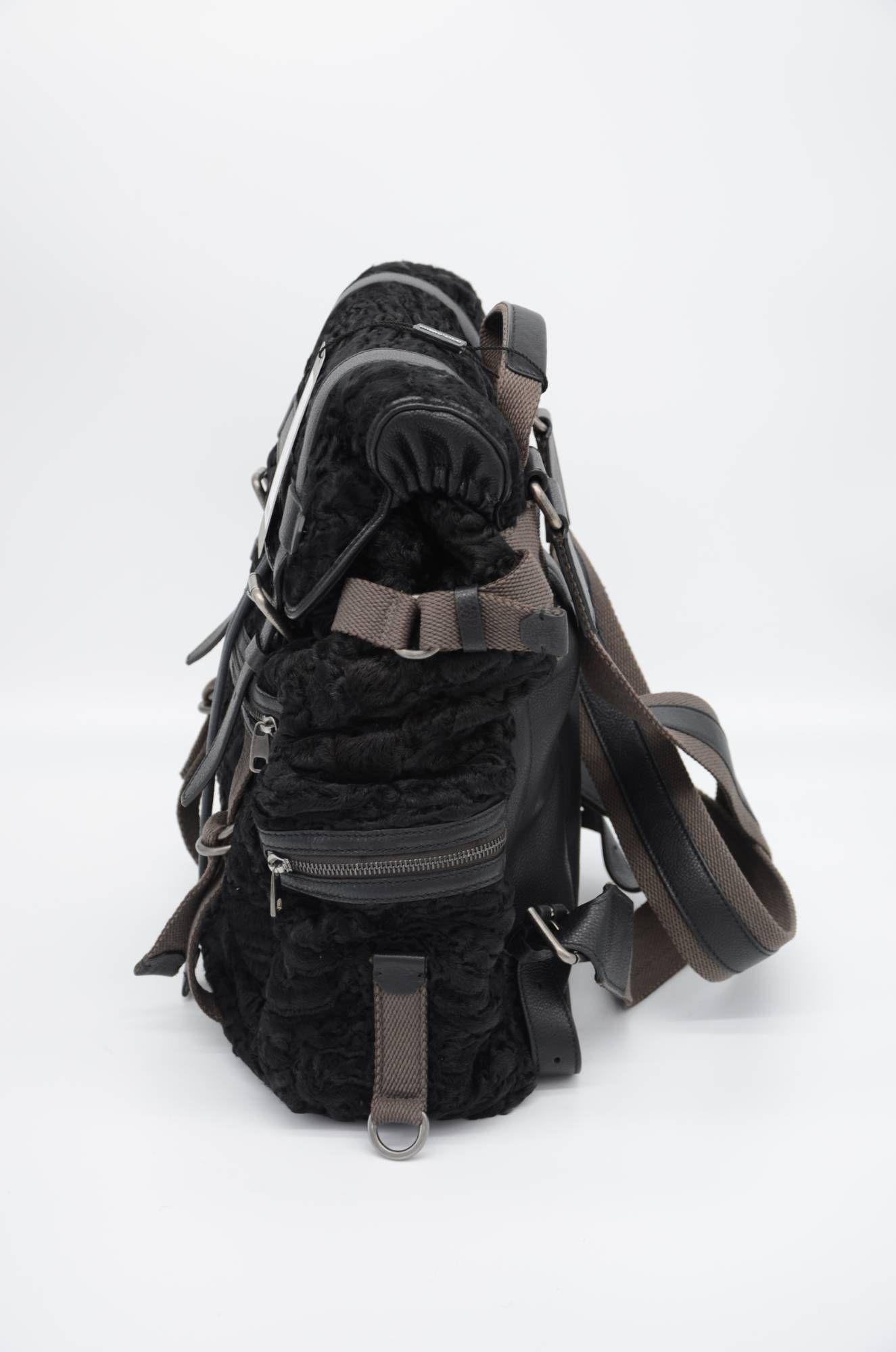 Dolce & Gabbana Men Leather Backpack