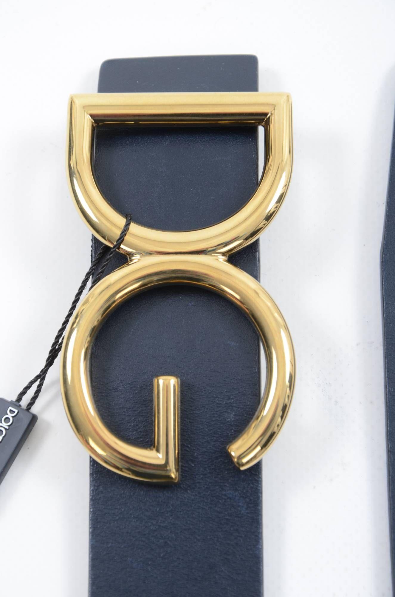 Dolce & Gabbana Men DG Leather Belt