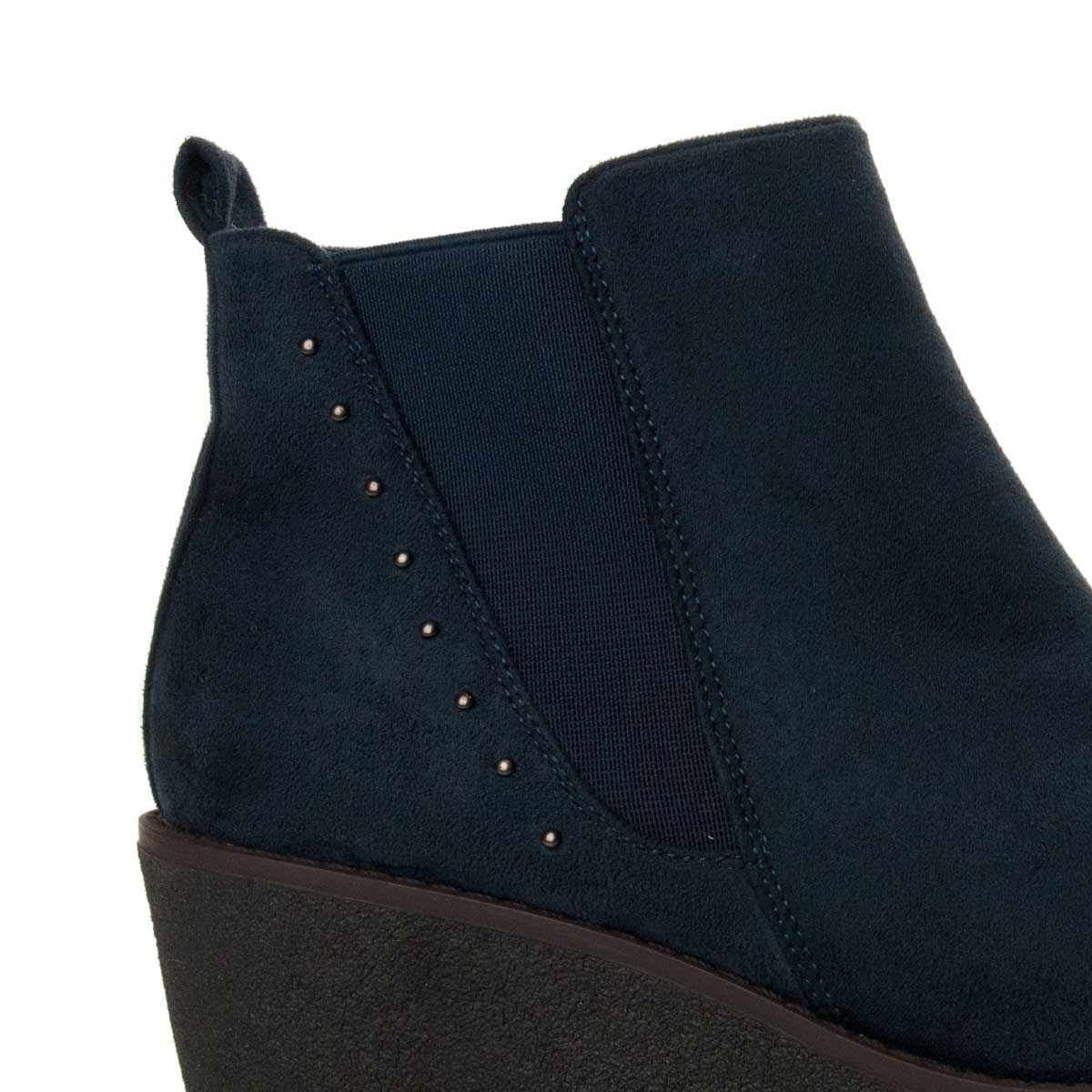 Montevita Wedge Ankle Boot in Blue