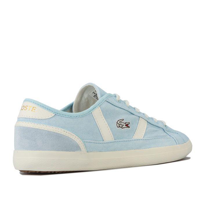 Women's Lacoste Sideline 120 1 Trainers in Blue cream