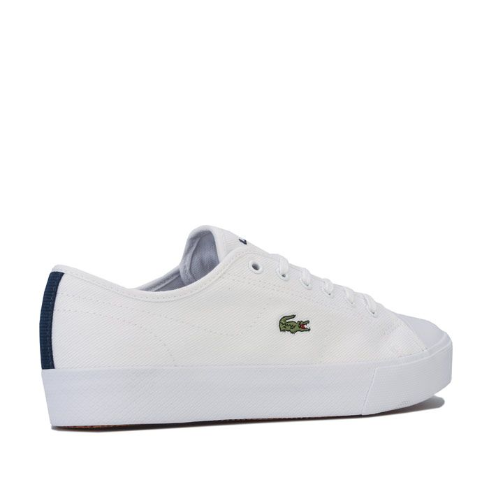 Women's Lacoste Ziane Plus Grand Trainers in White Navy