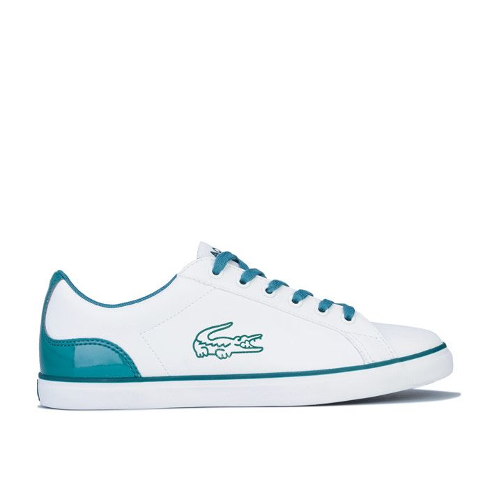 Boy's Lacoste Junior Lerond 120 Trainers in White Green