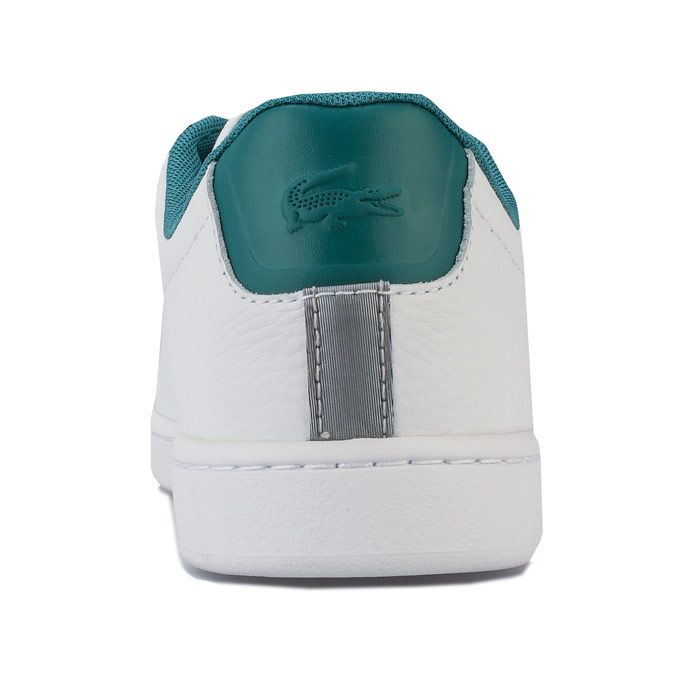 Women's Lacoste Carnaby EVO 120 Trainers in White Green
