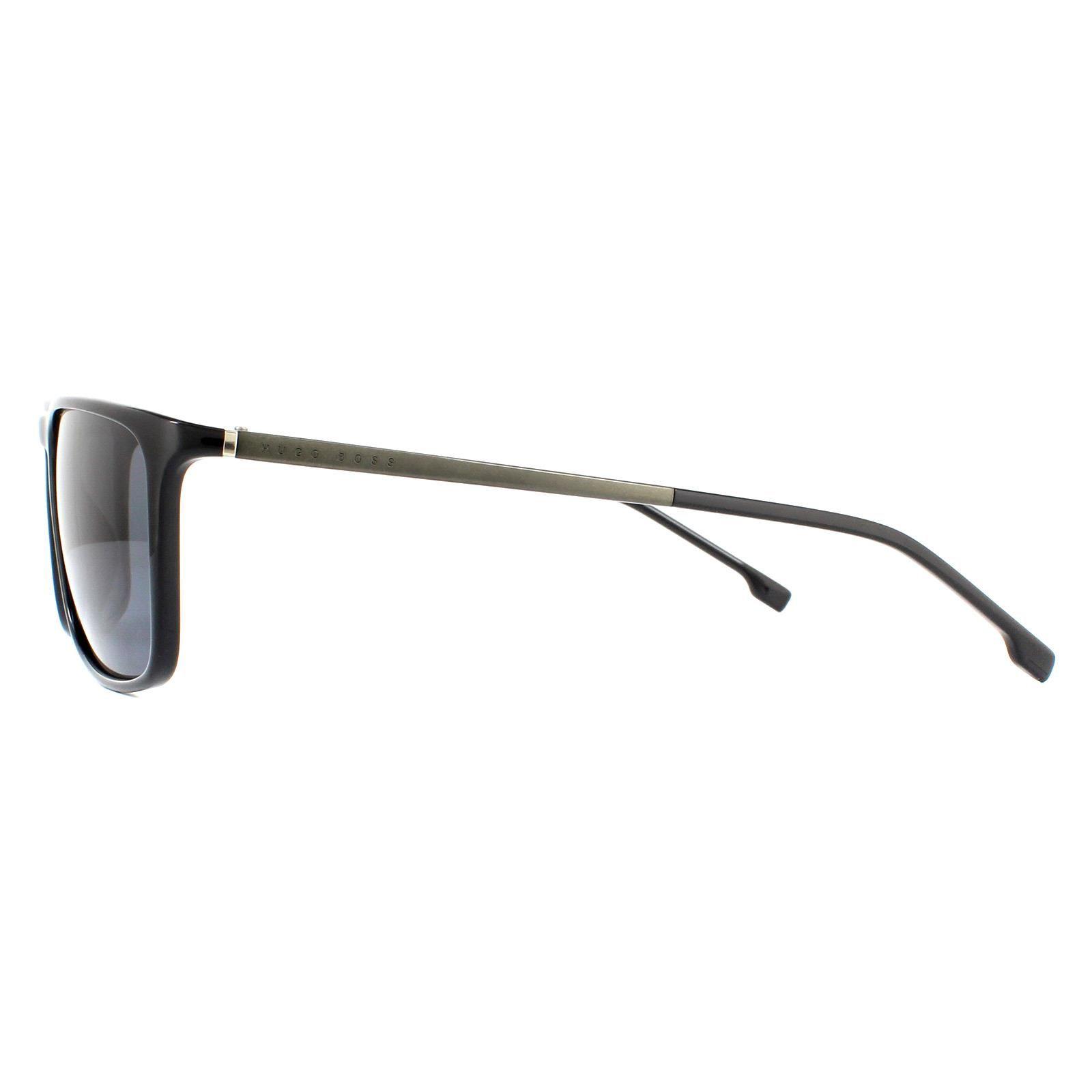 Hugo Boss Sunglasses BOSS 1182/S 807 IR Black Grey Polarized
