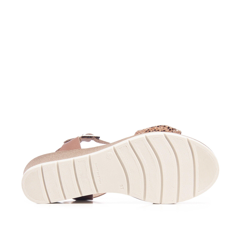 Wedge Leather Sandals Leather Women Summer Castellanisimos