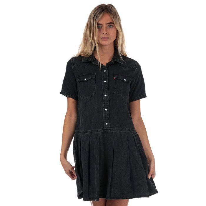 Women's Levi's Mirai Western Denim Dress In Black