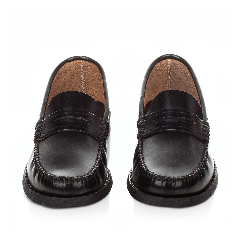 Leather Moccasins for Men Rubber Sole Castellanisimos Black