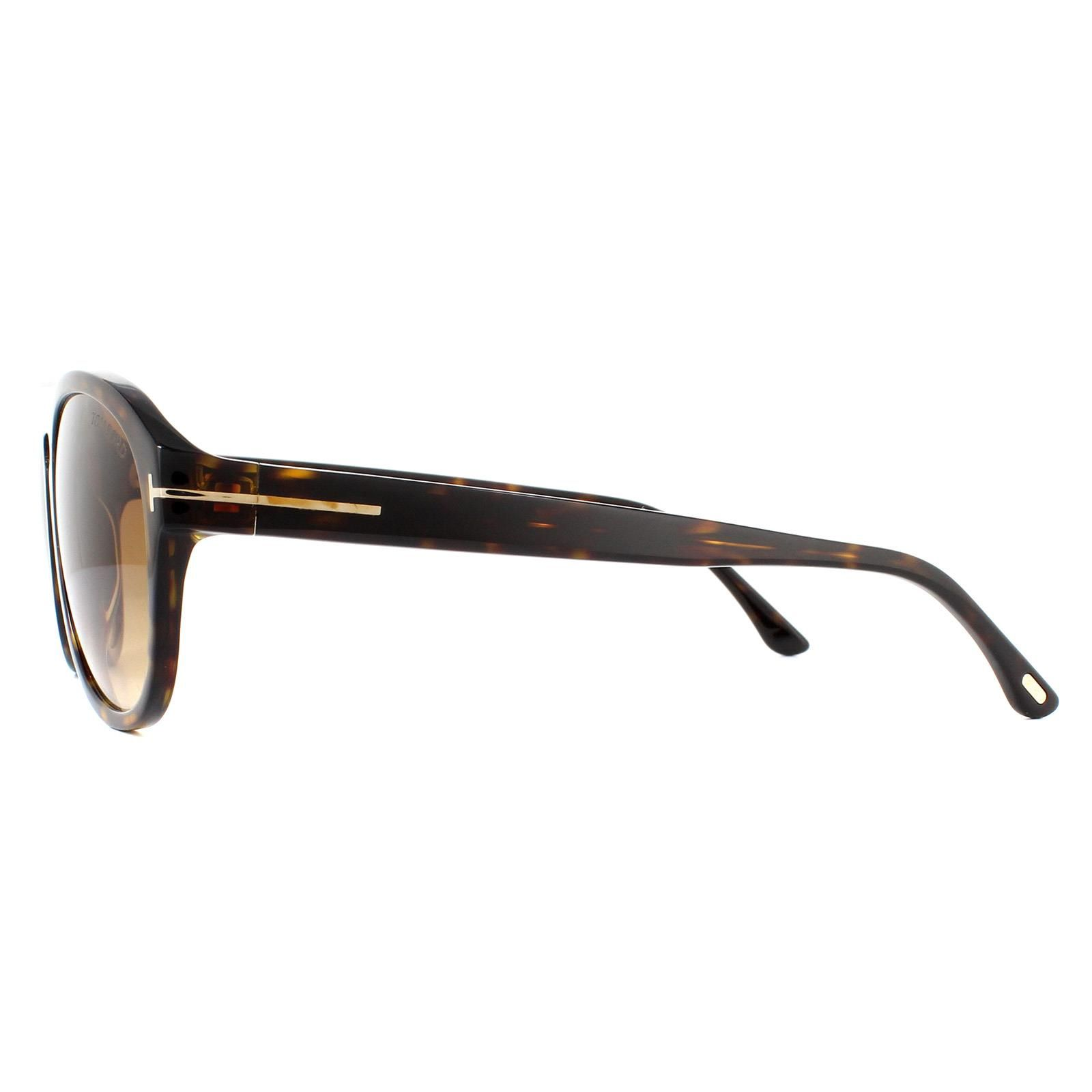 Tom Ford Sunglasses Austin-02 FT0677 52F Dark Havana Brown Gradient