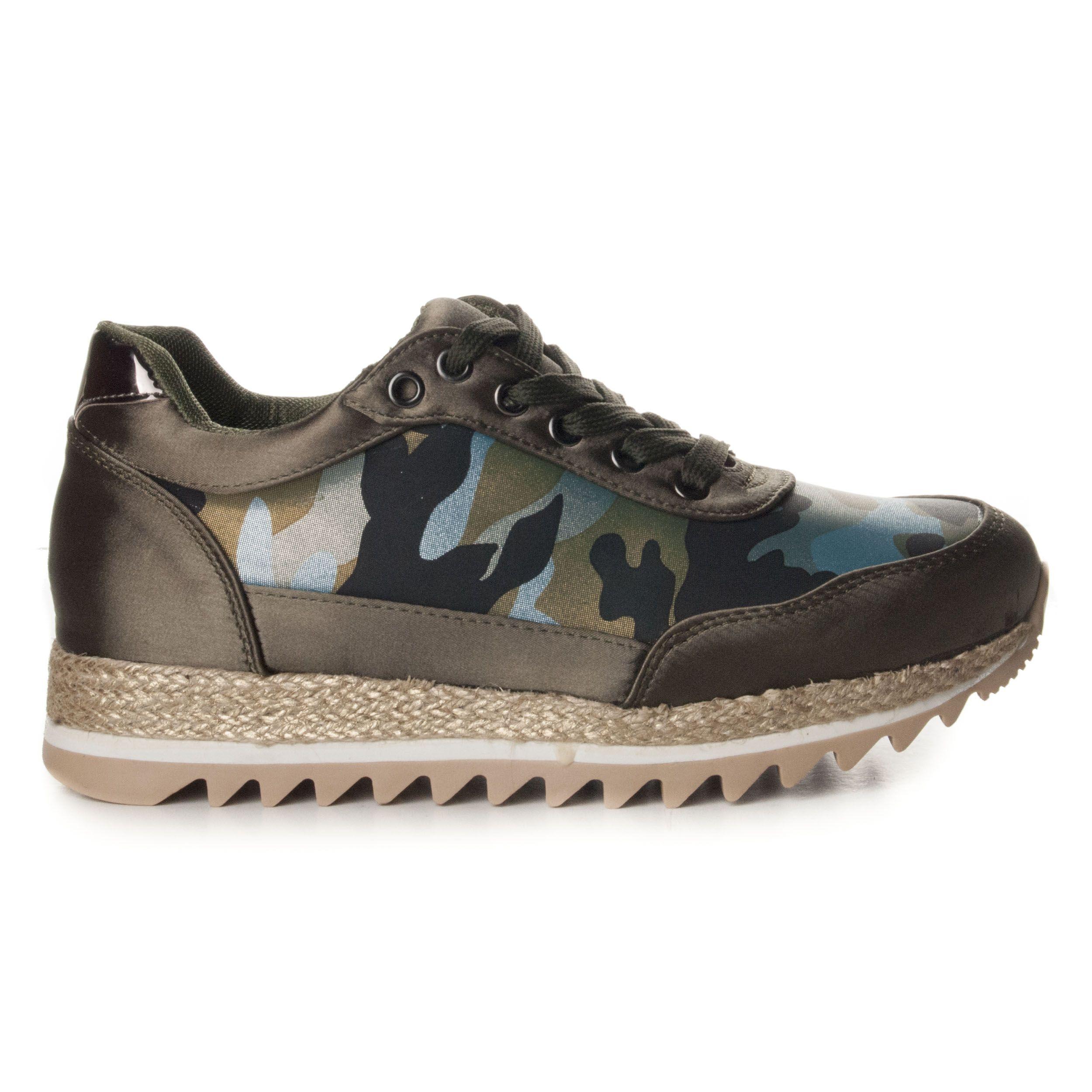 Montevita Wedge Sandal in Camouflage
