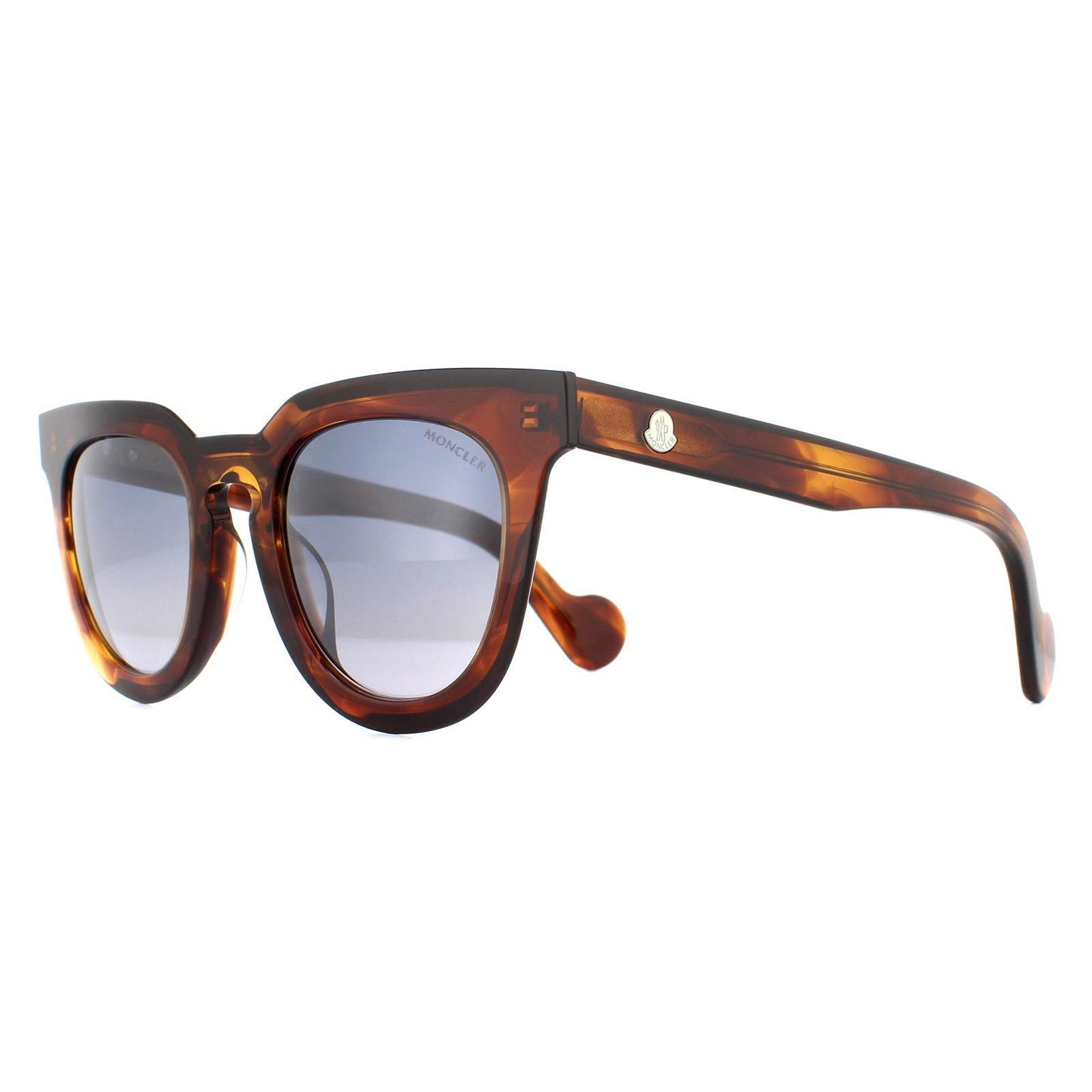 Moncler Sunglasses ML0008 45C Light Brown Smoke Mirror