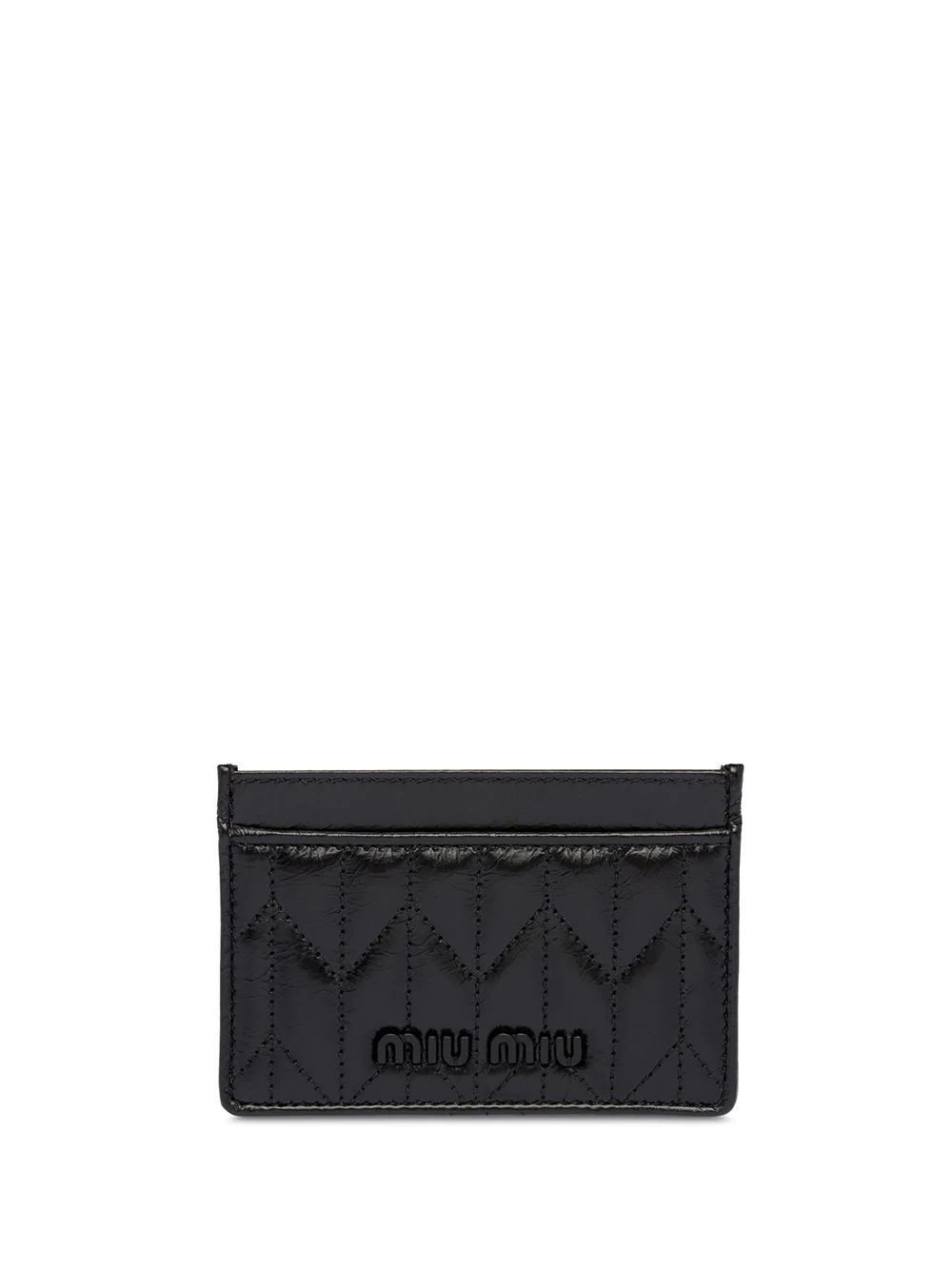 MIU MIU WOMEN'S 5MC2082D6CF0002 BLACK LEATHER CARD HOLDER
