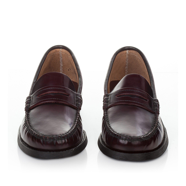 Leather Moccasins for Men Rubber Sole Castellanisimos Bordeaux
