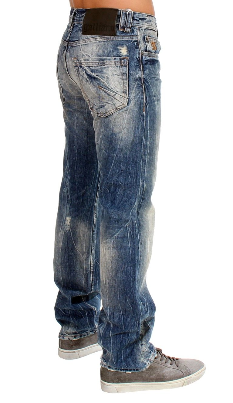 Galliano Blue washed cotton Jeans