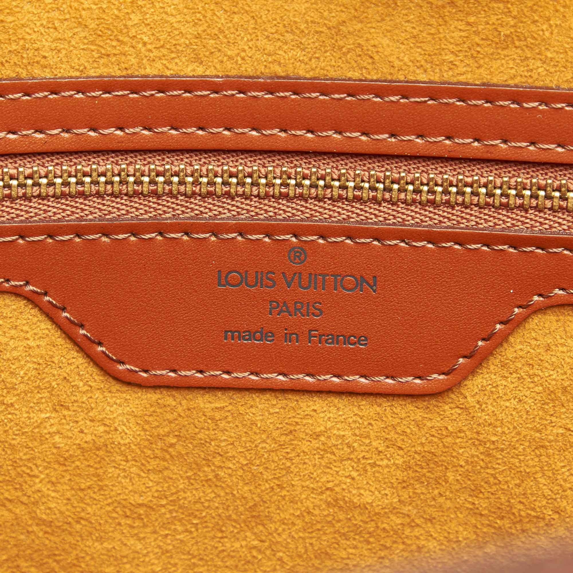 Vintage Louis Vuitton Epi Saint Jacques GM Long Strap Brown