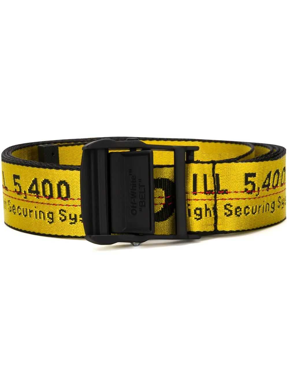 OFF-WHITE WOMEN'S OWRB009R202230756010 YELLOW SYNTHETIC FIBERS BELT