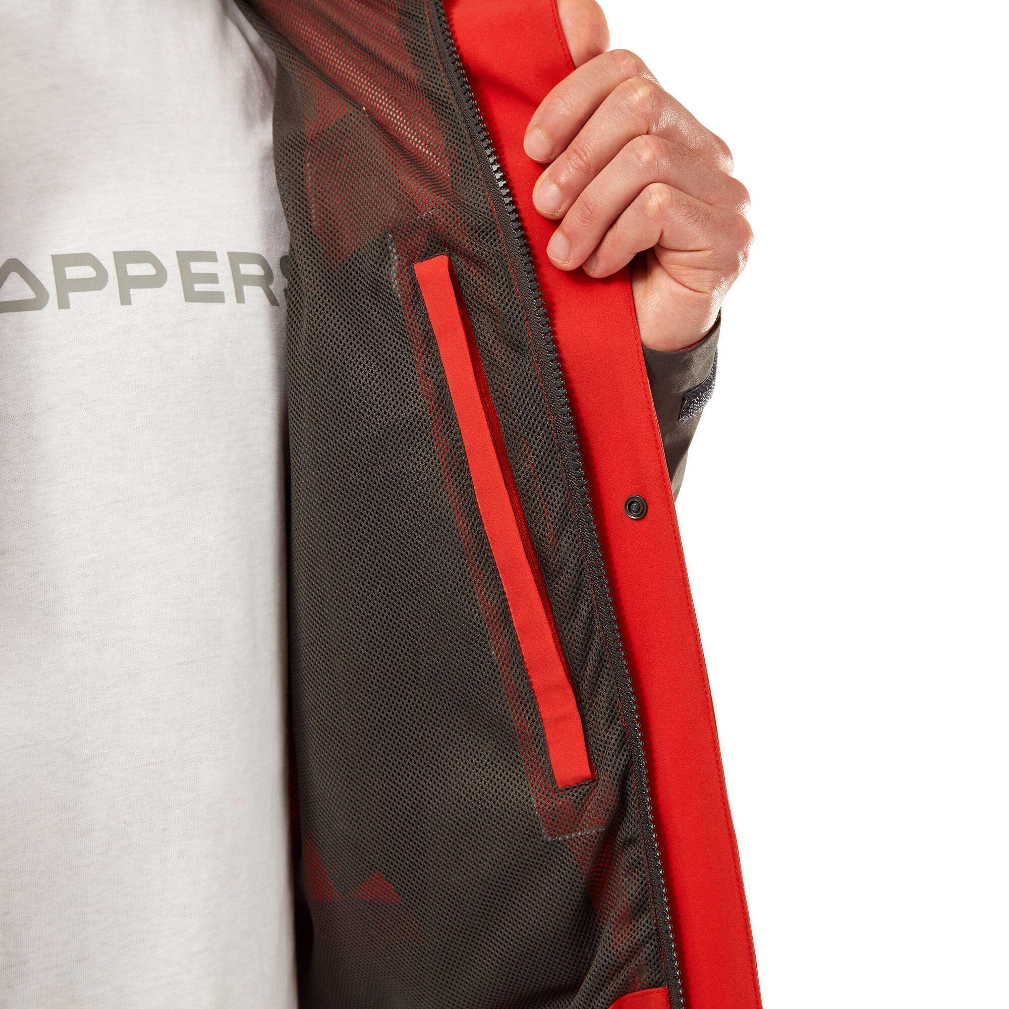 Craghoppers Mens Lorton Jacket (Pompeian Red/Black Pepper)