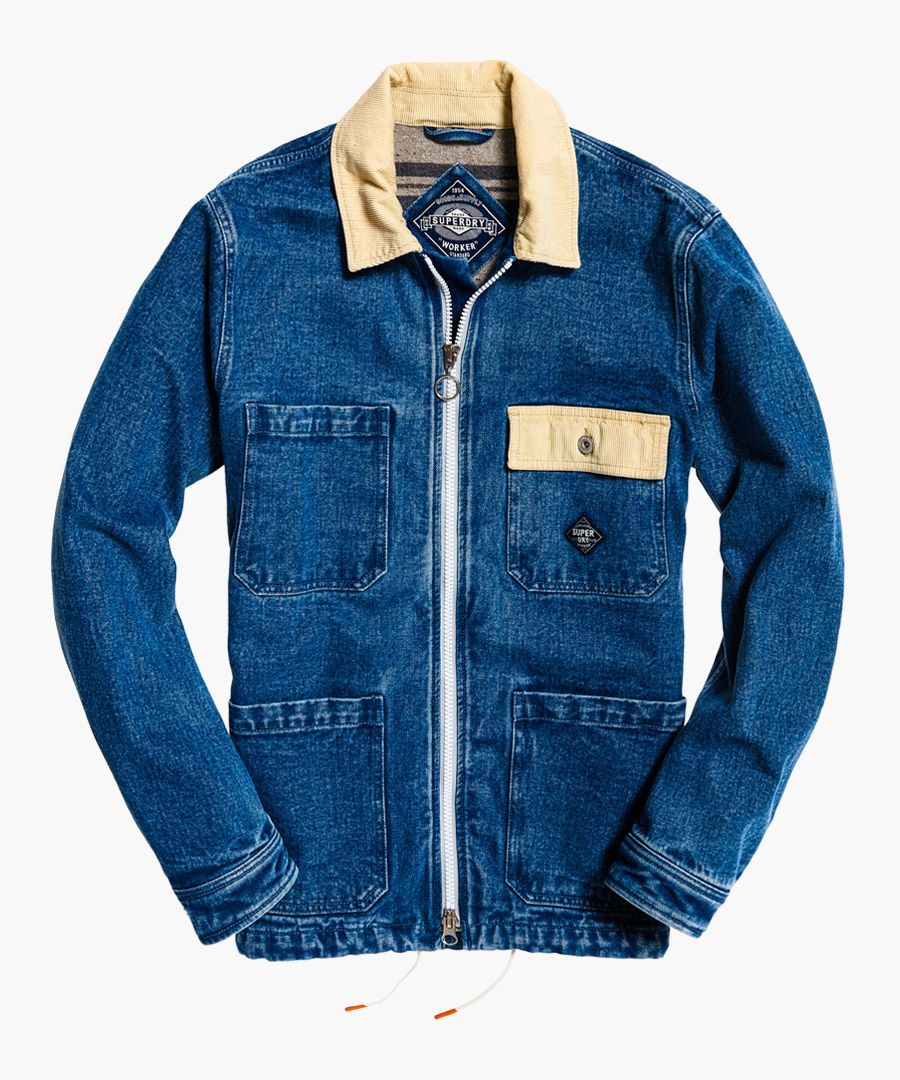 Worker Chore blue pure cotton coat