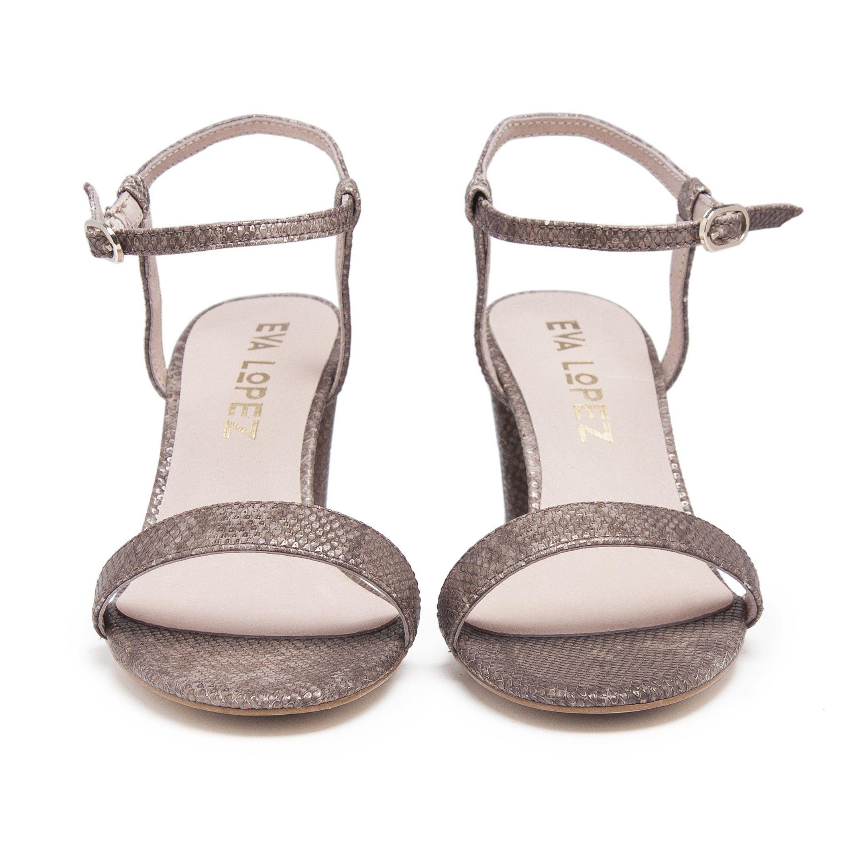 Leather Sandals Heel for Women Heeled  Shoes Eva Lopez