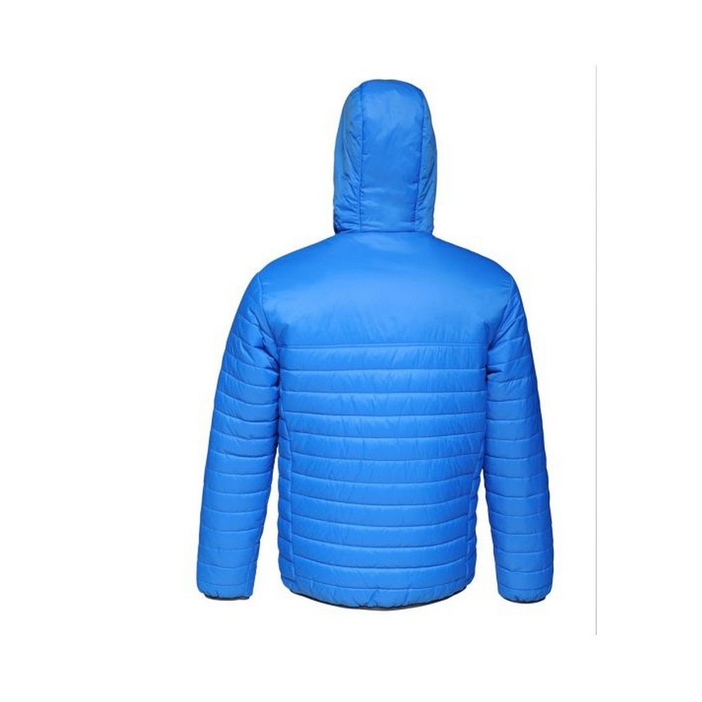 Regatta Standout Mens Acadia II Down-Touch Padded Jacket (Oxford Blue/Neon Spring Green)