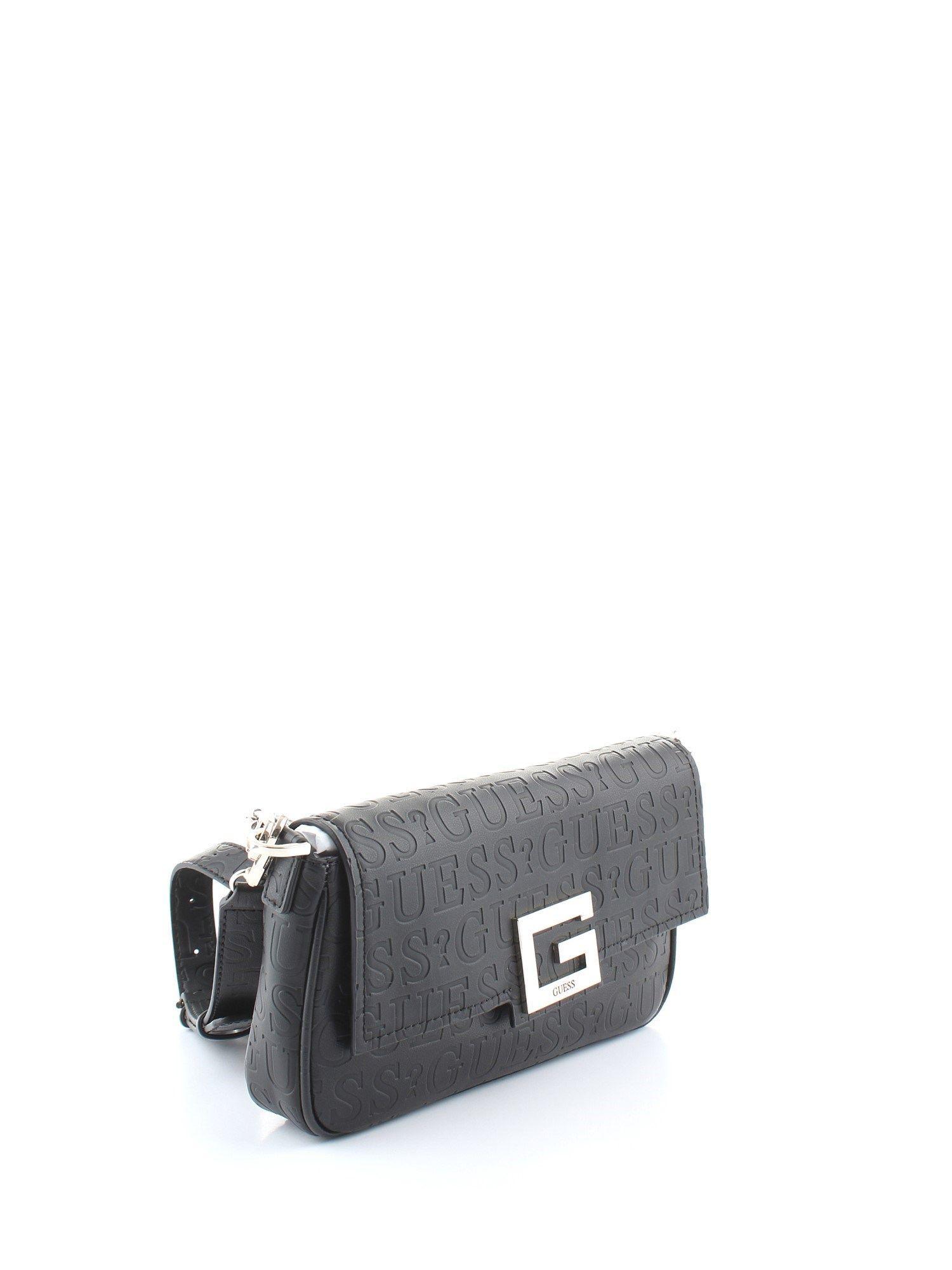 GUESS WOMEN'S HWVD7580190BLACK BLACK POLYURETHANE SHOULDER BAG