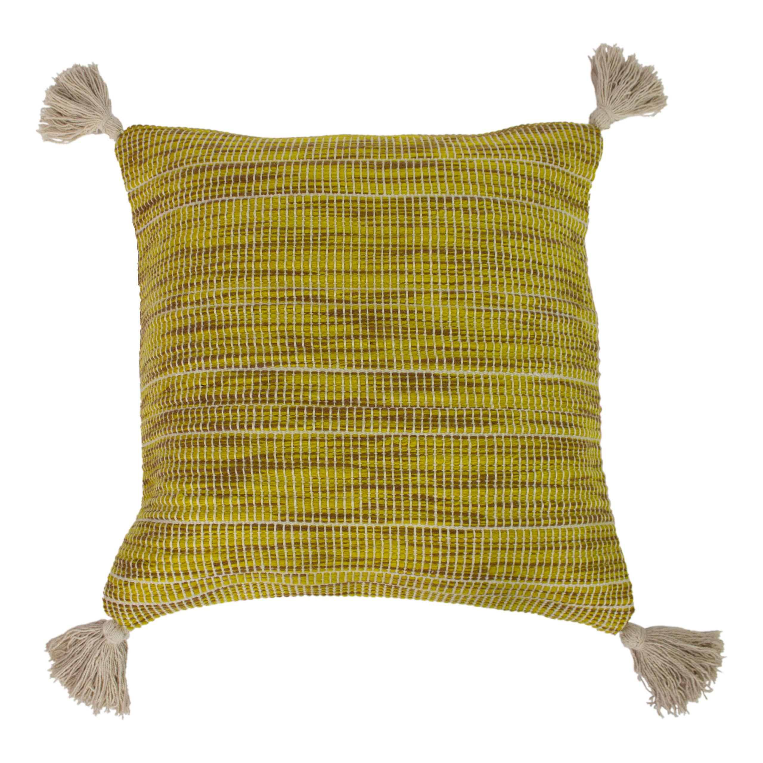 Shilo 50X50 Poly Cushion Ochre Gree