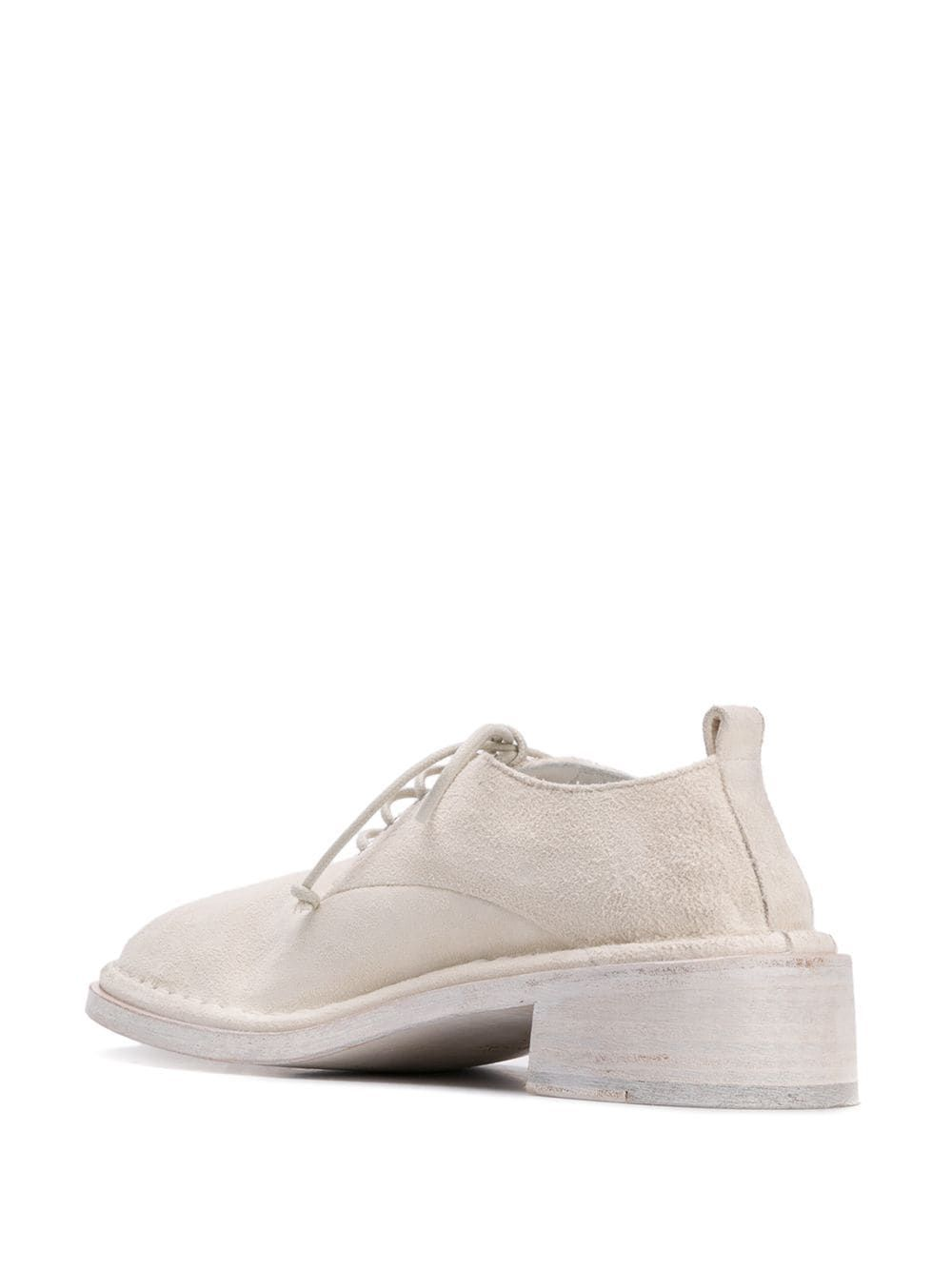 MARSELL WOMEN'S MW5761459110 WHITE LEATHER LACE-UP SHOES