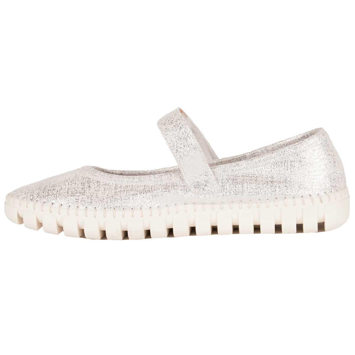 Purapiel Comfortable Sneaker in Silver