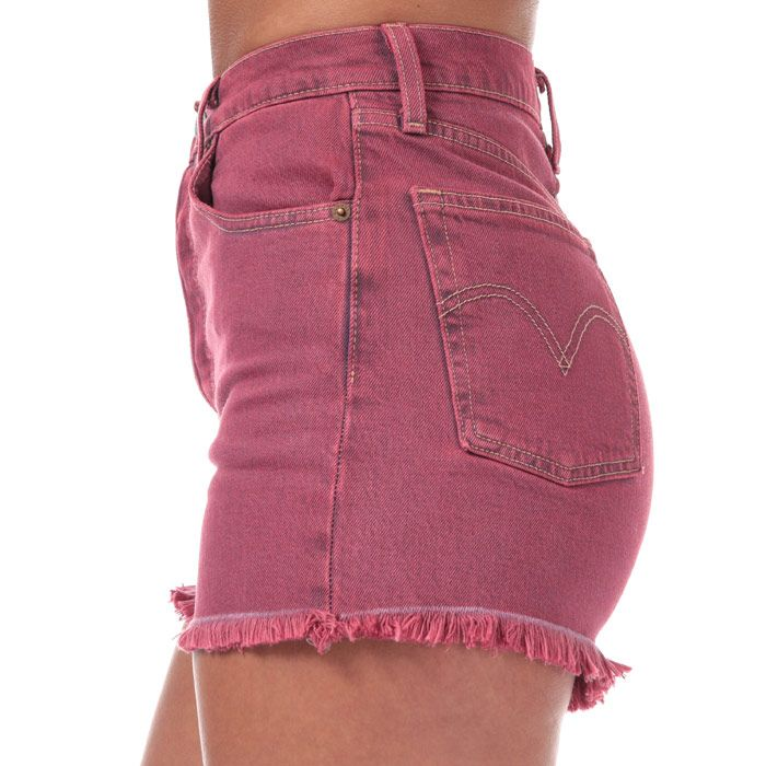 Women's Levi's Ribcage Shorts In Pink