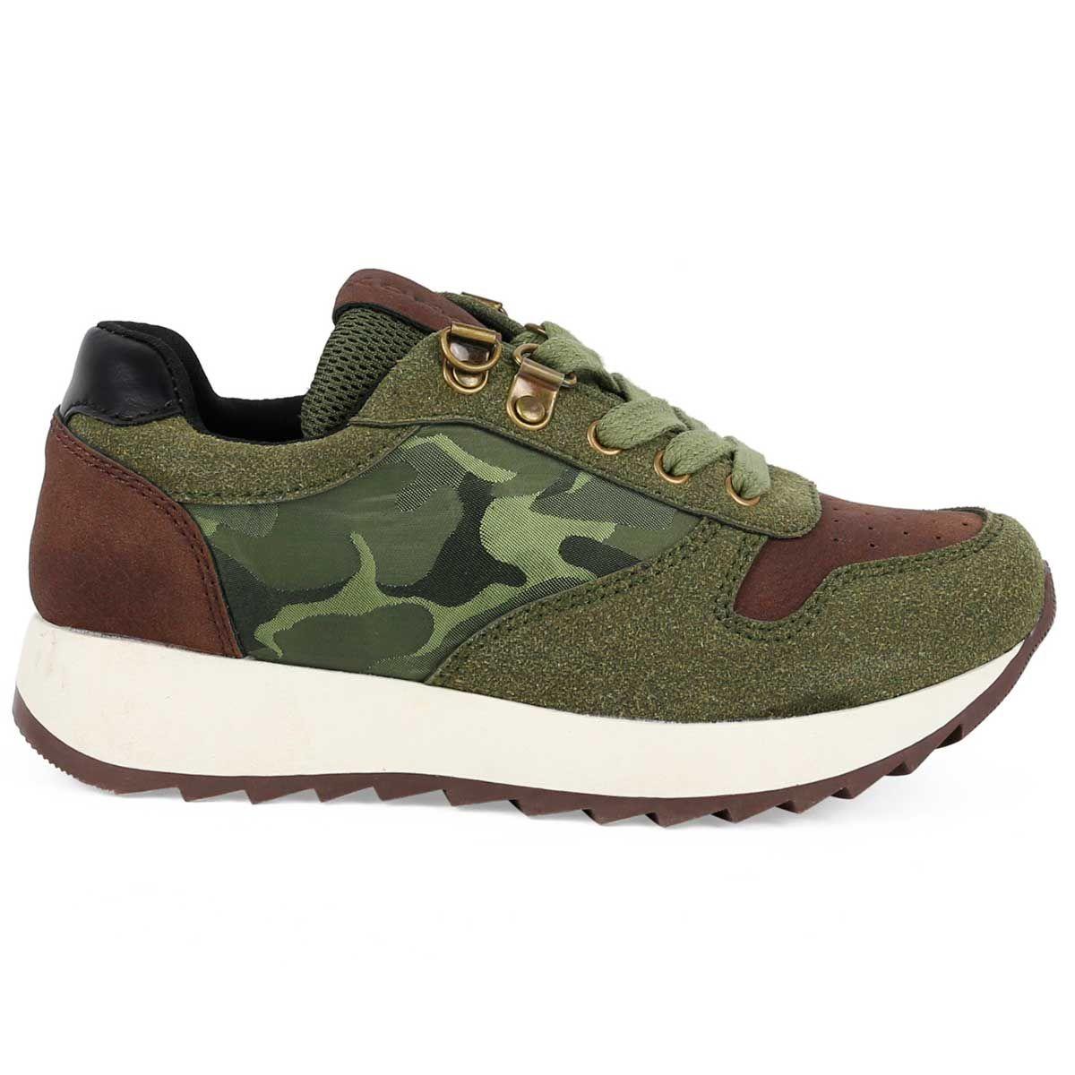 Montevita Chunky Sneaker in Green