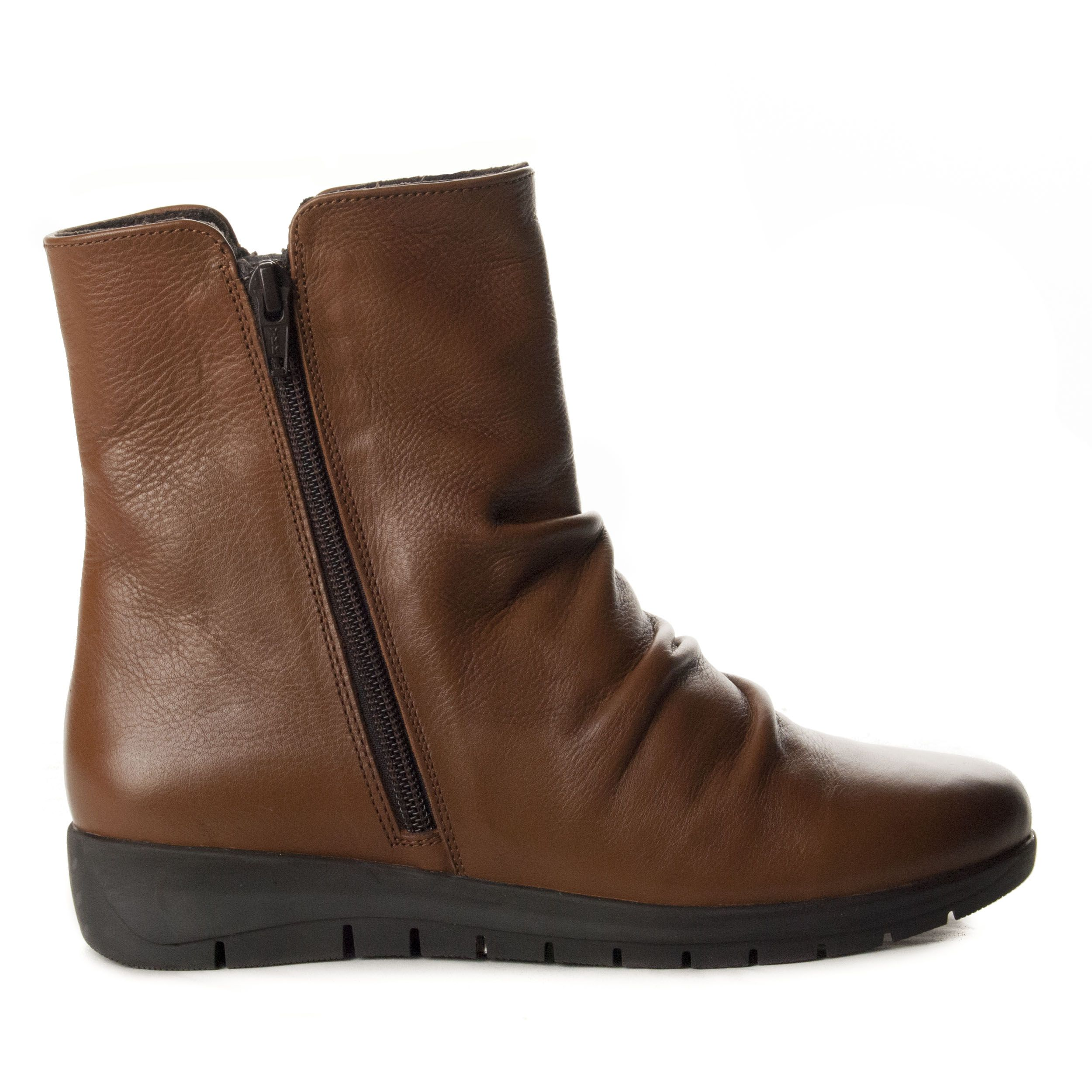 Purapiel Wedge Ankle Boot in Brown