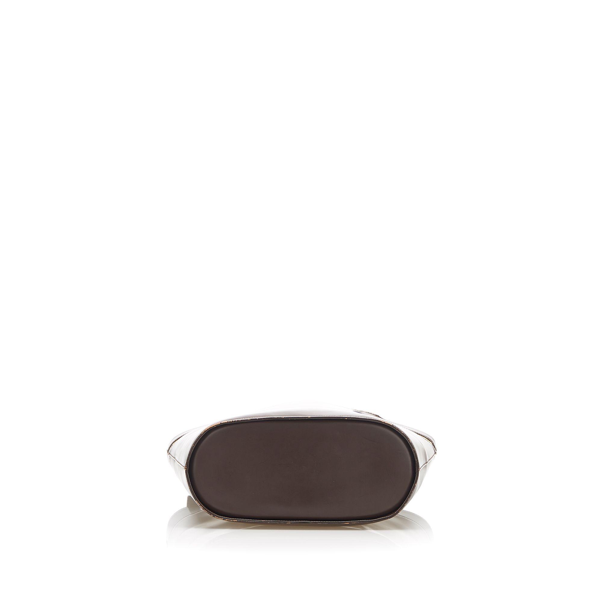 Vintage Burberry Leather Tote Bag Brown