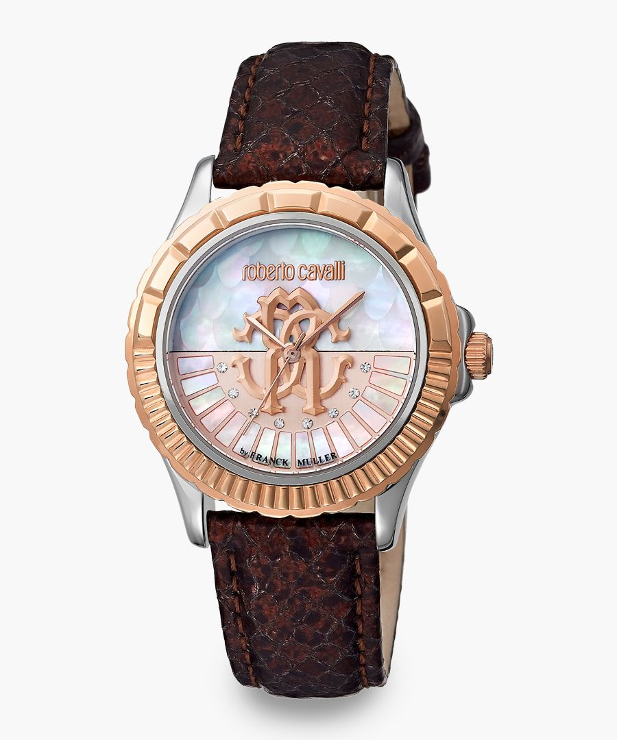 Two-tone brown watch