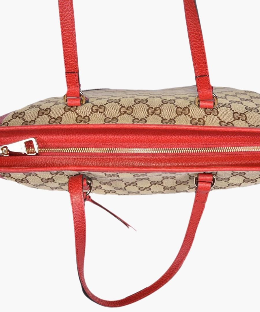 Bree GG canvas and red leather tote