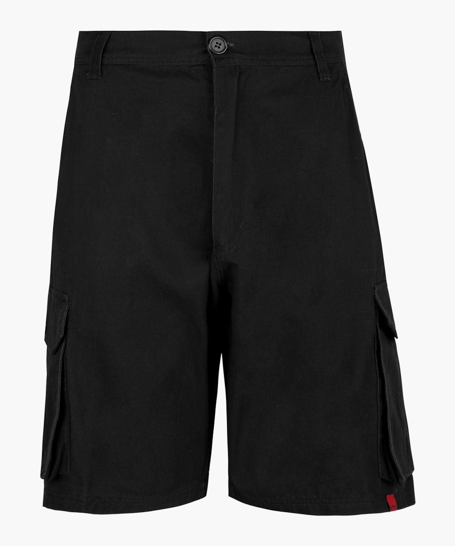 Explorer black cargo shorts