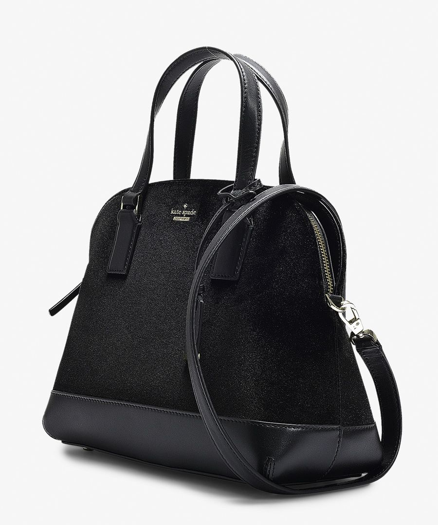 Cameron street lottie black velvet bag