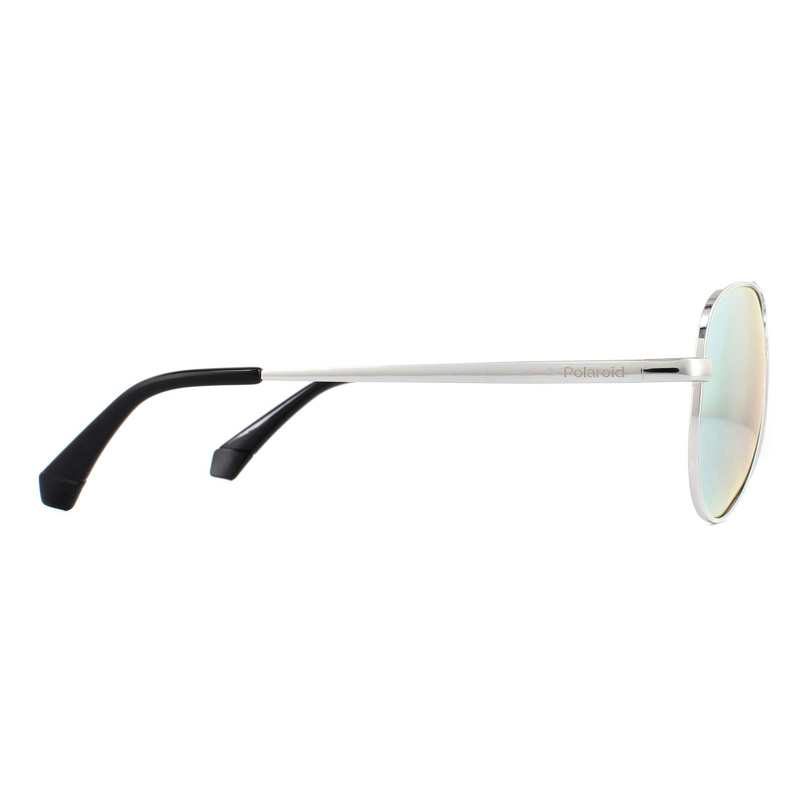 Polaroid Kids Sunglasses 8015/N/NEW 010 EX Palladium Grey Silver Mirror Polarized