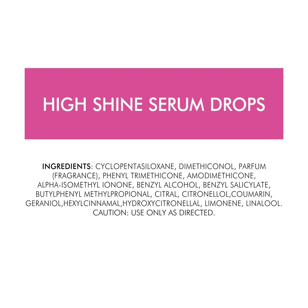 Toni & Guy High Shine Serum Drops, 30 ml